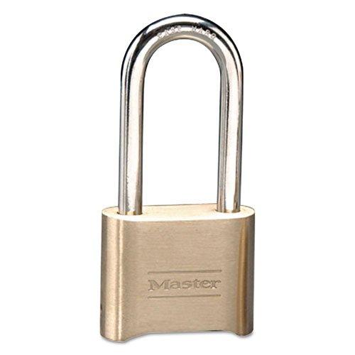 Master Lock - Resettable Combination Padlock, Brass, 2'', Brass Color, 6/Box 175LH (DMi BX