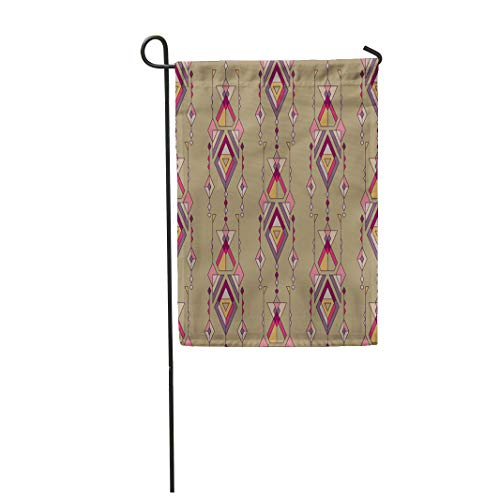 (Semtomn Garden Flag 12x18 Inches Print On Two Side Polyester Colorful Native Tribal Vintage Ethnic Aztec Mexican Navajo African Abstract Amer Home Yard Farm Fade Resistant Outdoor House Decor Flag)