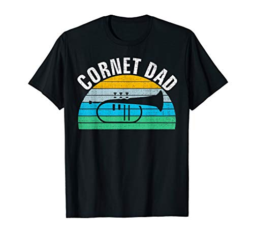 Retro Vintage Cornet Dad Funny Music Father