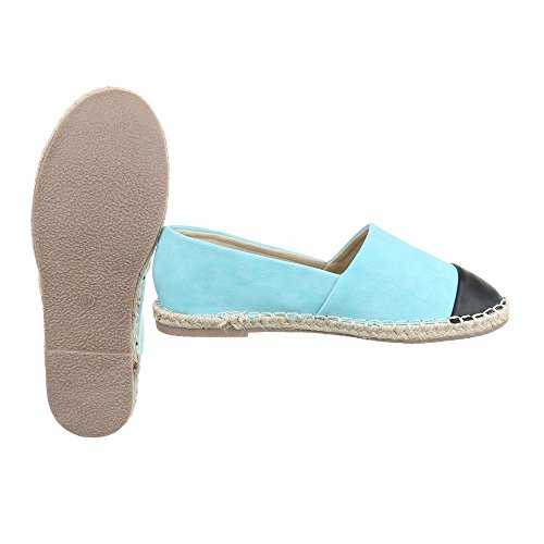 Ital-Design - Tobillo bajo Mujer azul claro