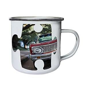 Puzzle Vintage Old Beautiful Car Picture Retro,Tin, Enamel 10oz Mug e558e