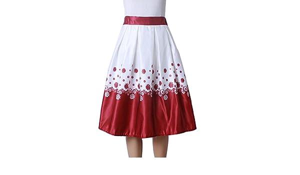 ZKOO Mujer Faldas Cortas Vintage Retro Alta Cintura Flores ...