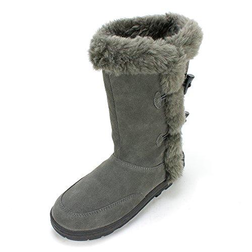 White Mountain 'OLIVA' Women's Faux Fur Boot, Grey - 8 M