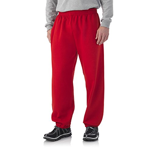 Fruit of the Loom Best Collection™ Men's Fleece Elastic Bottom Pant Large True Red