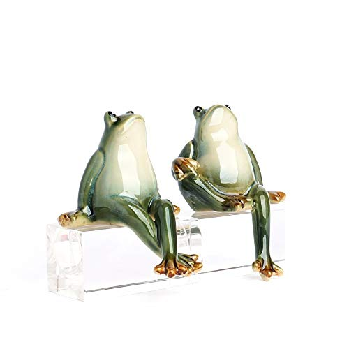 BLUESKYUP Figurines & Miniatures - Creative Home Furnishing Modern New Home Living Room Animal Decoration Wine Garden Courtyard Decoration Ceramic Frog 1 PCs from BLUESKYUP