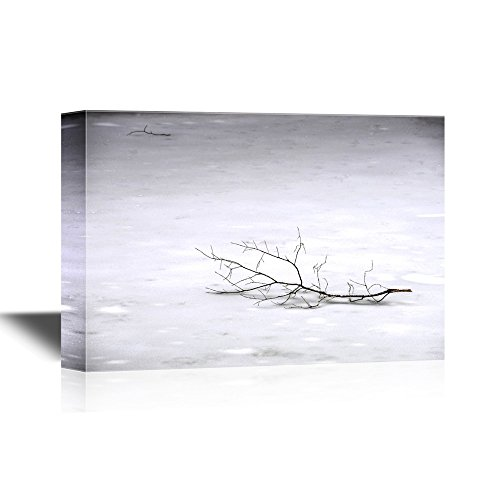 Winter Scene with Tree Branch Gallery