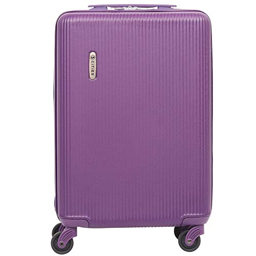 f35527f67 5 Cities Lightweight ABS Hard Shell Carry On Cabin Hand Luggage Suitcase  with 4 Wheels, Approved for Ryanair, easyJet, British Airways, Virgin  Atlantic and ...