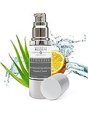 Kleem Organics Vitamine C Serum voor Gezicht met Hyaluronzuur & Vitamine E | Natuurlijk Anti Aging Huid Serum | Anti Rimpel Gezichtsserum | Acne en Donkere Vlek Behandeling voor Gezicht [1 oz]
