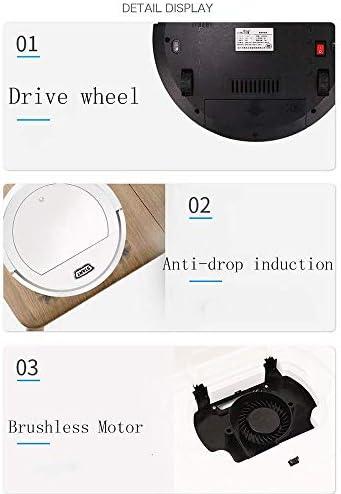 Thumby Aspirateur Robot, Ultra-Mince Automatique Sweeper sans Noise, Trois-en-Un Robot Collision Balayer jianyu