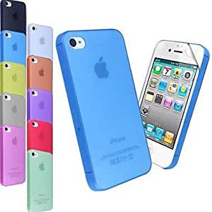 Ultra Thin Frosted Finish Slim Case for iPhone 4/4S (Assorted Colors) , Purple