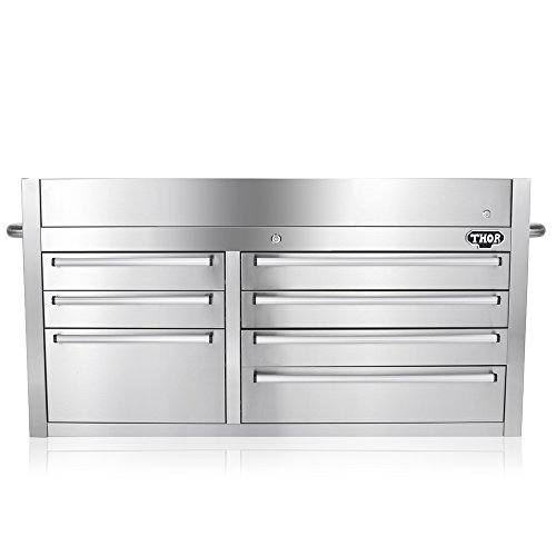 Stainless Steel Kitchen Cabinets Uae: THOR KITCHEN 41 Inch Stainless Steel Tool Chests 7 Drawers