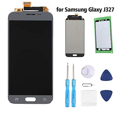 Samsung Galaxy J3 Screen Replacement LCD Display Touch Digitizer Assembly for J3 2017 Prime SM J327 J327R4 J327T J327T1 Amp Prime 2 J327AZ Emerge J327A J327P J327V Eclipse J327VPP with Tools,Tape