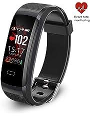 seegar Fitness Armband, Aktivitäts-Tracker mit Herzfrequenzmonitor und Schlafmonitor, GPS-Routenverfolgung Pedometer-Schrittzähler, wasserdichter Bluetooth-Pedometer IP67