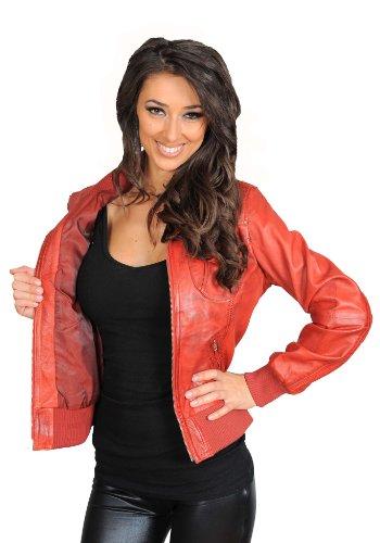 Manches Goods Blouson Fashion Longues Red Femme Teddy A1 nvTqWPxn