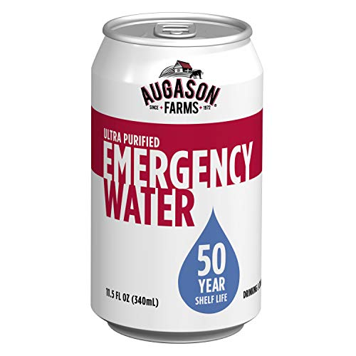 Augason Farms 50 Year Ultra Purified Water 11.5 oz Cans