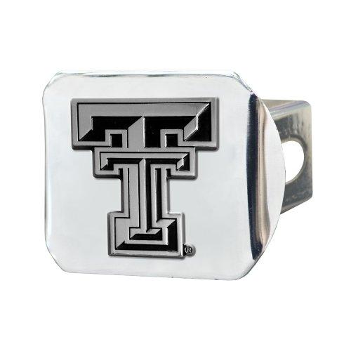 FANMATS NCAA Texas Tech University Red Raiders Chrome Hitch Cover (Red Trailer Tech Texas Raiders)