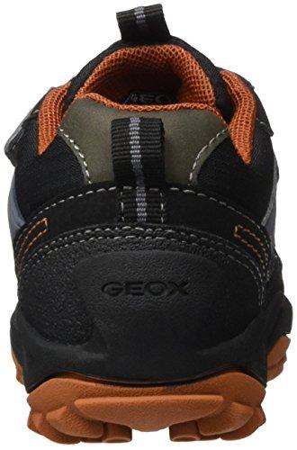 Geox J NEW SAVAGE BOY B ABX D - Zapatillas para niños Schwarz (Black/Dk ORANGEC9279)