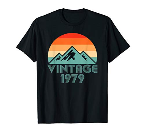 Vintage 1979 Shirt Funny Costume 40th Birthday day Best Gift