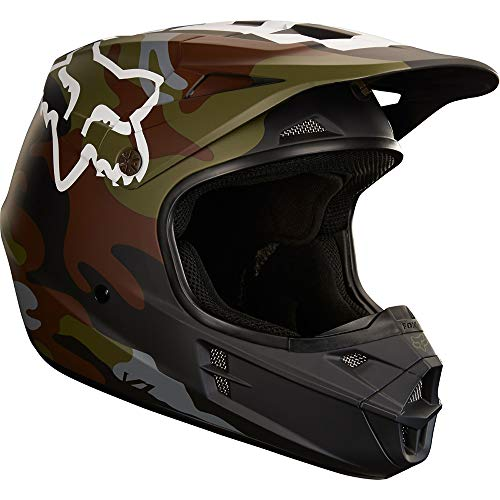 Fox Racing Camo Adult V1 Off-Road Motorcycle Helmets - Green Camo/Small