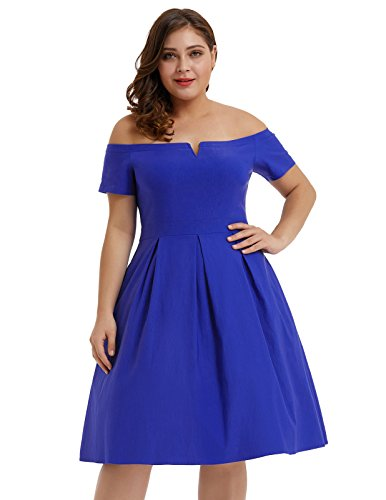 Blue Swing Cocktail Nikole Vintage Navy Hanna Midi Wedding 1950s Party Women's HN33 Dress TX0Twq7