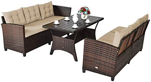 Happygrill Outdoor Sectional Furniture Set
