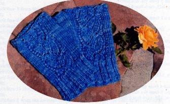 Dayflower Fingerless Gloves Knitting Pattern (#50018)