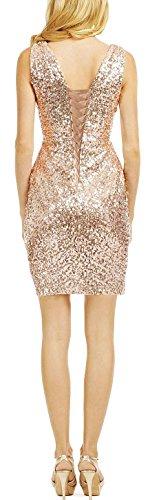 Da In Size Sexy Vestito V Damigella Collo Plus Butmoon Oro Paillettes Abito Corta Delle Prom Rosa D'onore Donne Lungo xq7BZ8Av