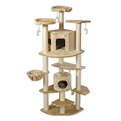 "Go Pet Club 80"" Beige Cat Tree Furniture from Go Pet Club LLC"
