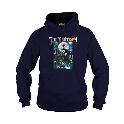 Unisex Tim Burton Characters Halloween Hoodie (M, Navy) for $<!--$40.99-->