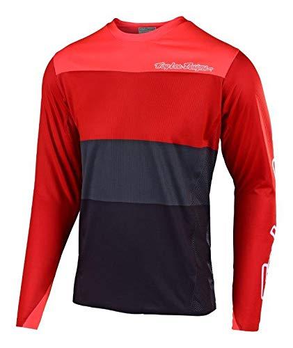 - Troy Lee Designs Sprint Elite Beta Men's Off-Road BMX Cycling Jersey - Red/Orange/Large