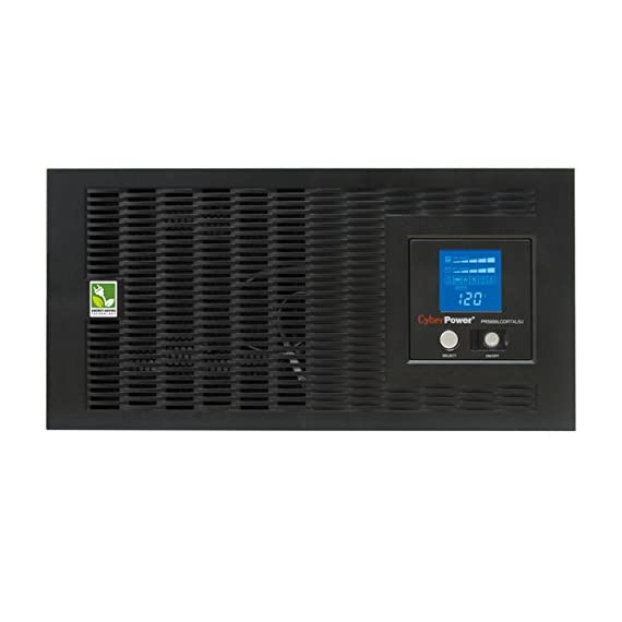 CyberPower PR5000LCDRTXL5UTAA Smart App Sinewave UPS System, 5000VA/4000W, 5 Outlets, AVR, Rack/Tower, TAA Certified 3 5000VA / 4000W Pure Sine Wave UPS - Pure Sine Wave UPS - designed to support Active PFC power supplies and conventional power supplies Line-Interactive Topology. Full AVR Buck/Boost & GreenPower UPS 5U Rack Mount/Tower convertible. Multi-function rotatable LCD display