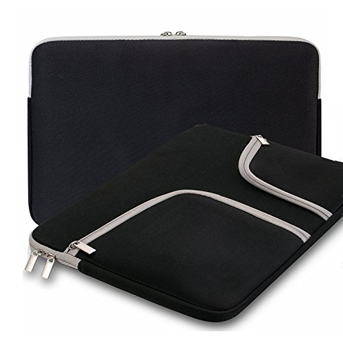 Koala group*MacBook 11,6 Zoll Notebook-Hülle, wasserdicht / Antifouling-Neopren, doppelte Tasche Außenfach Reißverschlussfach Sleeve ----- Black