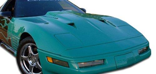 - Duraflex Replacement for 1985-1996 Chevrolet Corvette C4 Twin Turbo Hood - 1 Piece