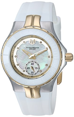 Technomarine Women's 'Cruise' Quartz Stainless Steel and Silicone Casual Watch, Color:White (Model: TM-115399)