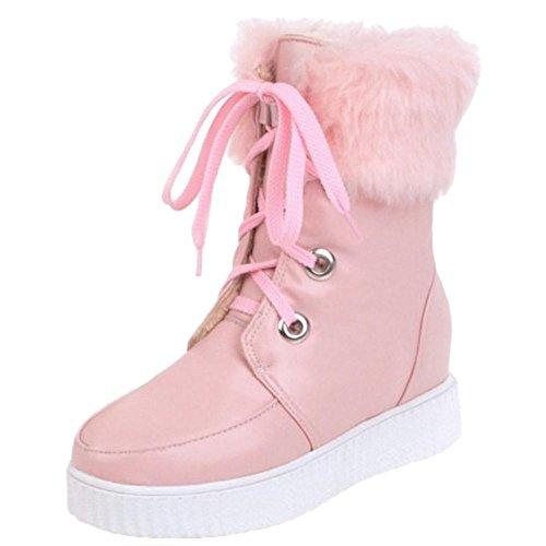 Pink Ankle COOLCEPT Boots Fashion Warm Women XPnq0C
