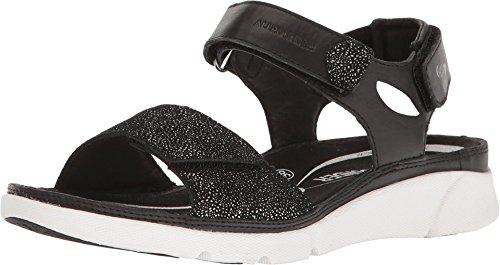 Allrounder by Mephisto Women's Tabasa Black Cow Burnish Sandal (Allrounder Black Shoes)