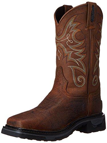 Tony Lama Fashion Boots - Tony Lama Men's Water Buffalo Comp Toe Western Boot, Sierra, 13 D US