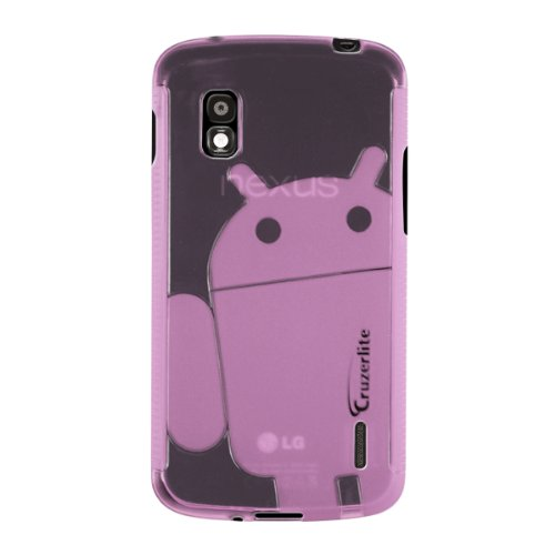 Pink Cruzerlite Androidified A2 TPU Case for LG Nexus 4 (T-Mobile, International Carriers)[Retail Packaging] by Cruzerlite