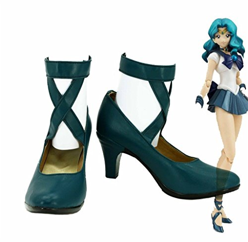Bromeo Sailor Moon Sailor Neptune Michiru Kaioh Cosplay Chaussure