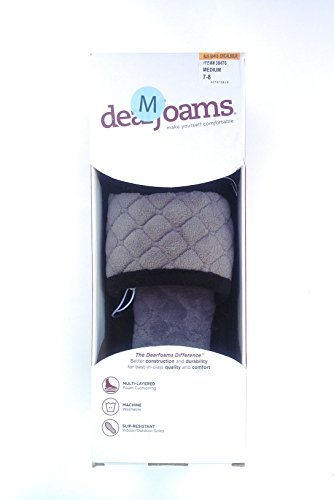 Dearfoams Medium Dames Geheugenschuim Excalibur Glijslippers, Medium (7-8)