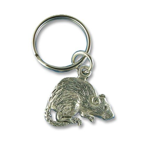 Pewter Rat Keychain by The Magic Zoo