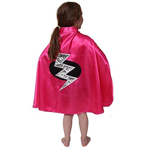 [Children's Pink Lightning Bolt Superhero Cape] (Lightning Bolt Costumes)