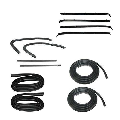 - Door Weatherstrip Rubber Seal Kit 12 Pc Set for 73-80 Chevy GMC Pickup Truck
