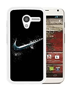 Popular Custom Designed Cover Case With Cold Nike Logo White For Motorola Moto X Phone Case