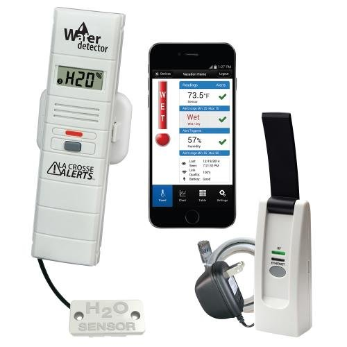 La Crosse Alerts Remote Temperature and Humidity Monitoring System w/ Water Leak - Sensor Crop