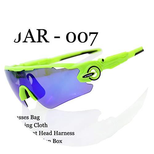 Polarized Cycling Glasses UV400 Cycling Sport SunGlasses Mountain Bike Goggles Racing Road MTB Bicycle Eyewear For Man,007