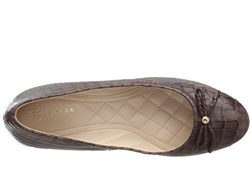 Cole Haan Women's Tali Grand Lace Wedge 40 Chestnut Croc Print Wedge 8 2A - Narrow