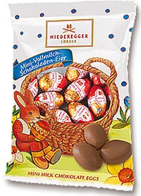 Niederegger Whole Milk Chocolate Eggs - 100g/3.5oz