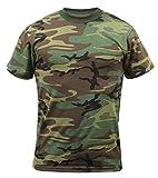 Rothco T-Shirt/Woodland Camo, Large