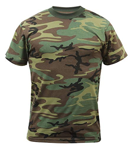 Camo Mens Short Sleeve T-shirt - Rothco Uf Short Sleeve T-shirt Woodland Camo, X-Large